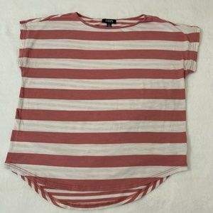 Chaps Women's Large Pink Striped Shirt